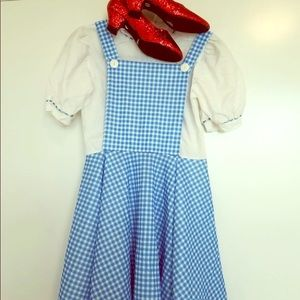 Dorothy halloween costume dress & shoes